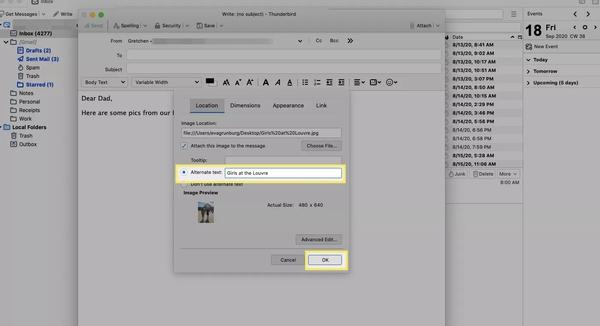 چگونه عکس ایمیل کنیم؟ طریقه ارسال عکس با ایمیل در Mozilla Thunderbird