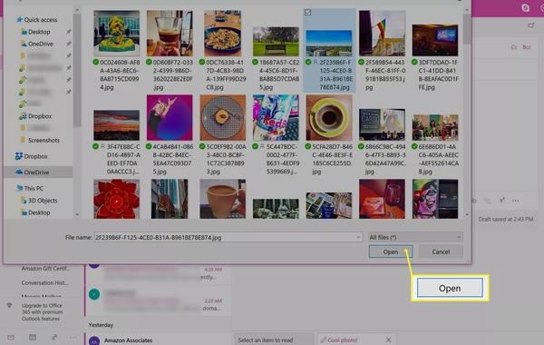 نحوه ارسال عکس با ایمیل در Outlook