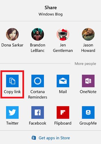 گزینه اشتراک گذاری در ویندوز10