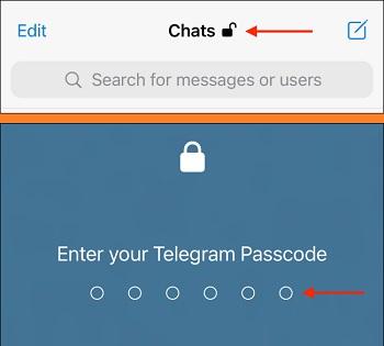 رمز گذاشتن روی تلگرام