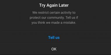 5 روش تست شده رفع ارور We restrict certain activity اینستاگرام
