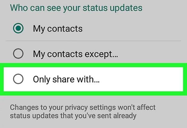 وضعیت آنلاین در واتساپ