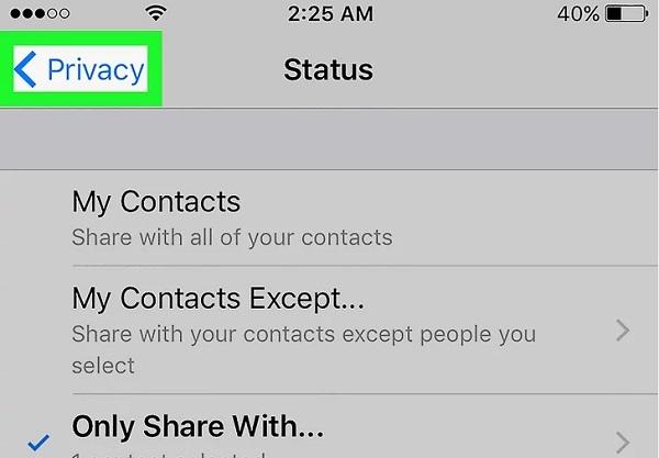 دیده نشدن وضعیت آنلاین در واتساپ