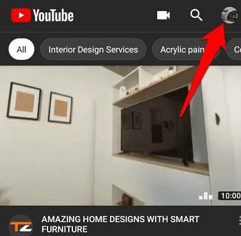 حذف اکانت یوتیوب در اندروید