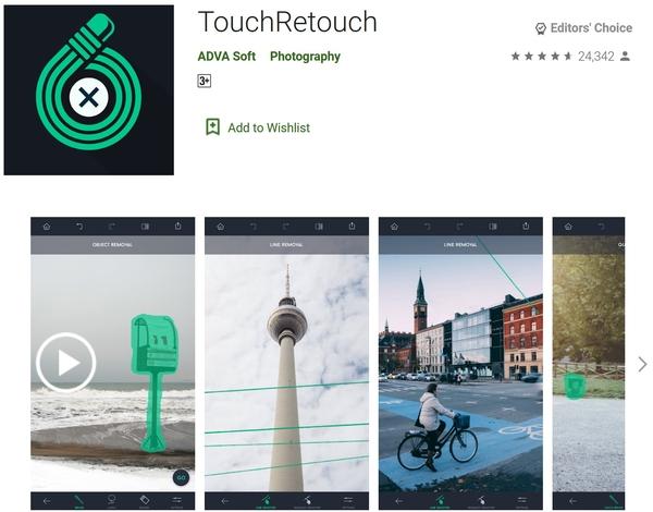 حذف شی از عکس اندروید با برنامه TouchRetouch