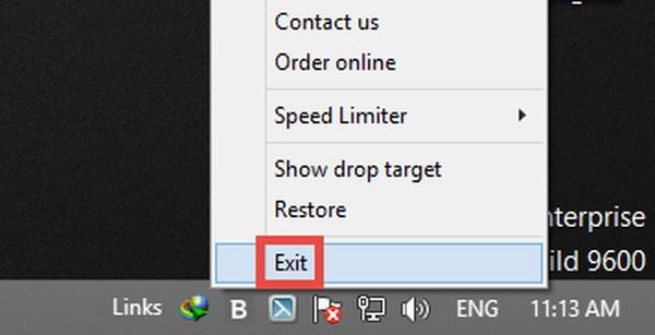 بستن برنامه برای حذف دانلود منیجر از ویندوز 10 و..