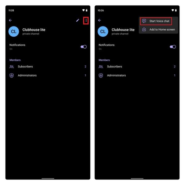 نحوه ایجاد ویس چت در تلگرام