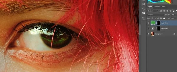 تکنیک اساسی روتوش چشم در فتوشاپ (برق انداختن چشم در فتوشاپ)