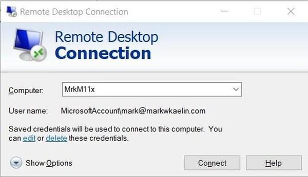 اجرای Remote Desktop