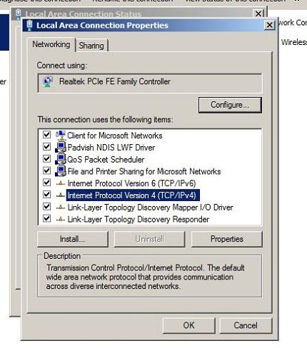 انتخاب آی پی DVR برای انتقال تصویر DVR به لپ تاپ