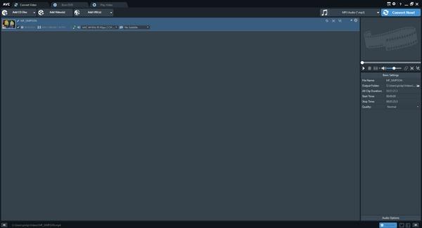 برنامه Any Video Converter برای تبدیل فایل MP4 به MP3
