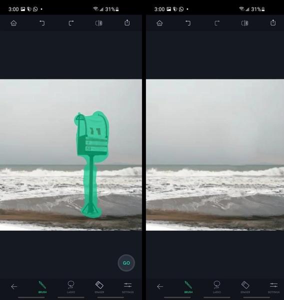حذف اشیا از عکس اندروید با برنامه TouchRetouch و ابزار Object Removal