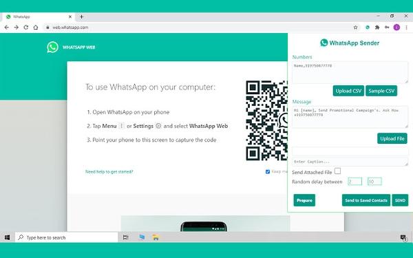 WhatsApp Sender برای ارسال گروهی WhatsApp