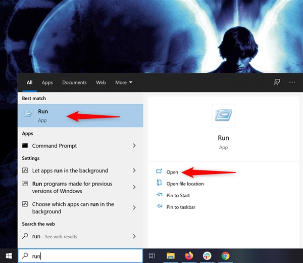استفاده از سرچ ویندوز برای ورود دستور Run در ویندوز 10 و 7