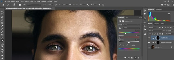 طبیعی تر نشان دادن رنگ چشم جدید (روشن کردن رنگ چشم فتوشاپ)