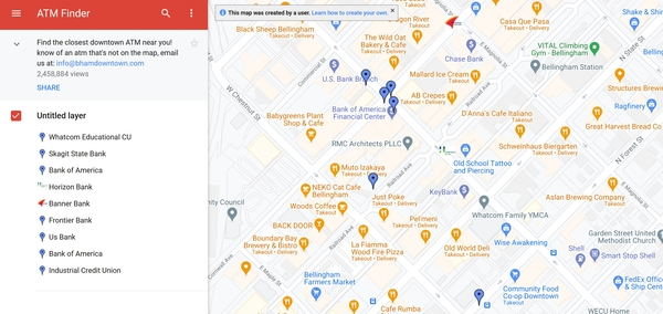 با نسخه وب Google Maps خودپردازهای نزدیک من را پیدا کنید