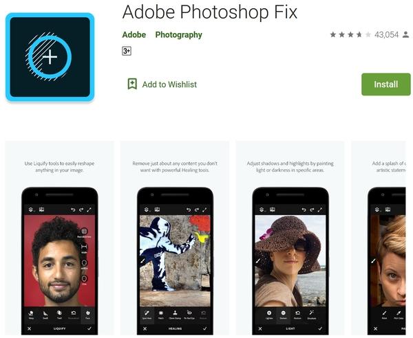 نرم افزار حذف اشیا از عکس اندروید Adobe Photoshop Fix