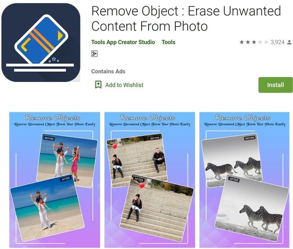 برنامه Remove Object برای حذف فرد از عکس اندروید