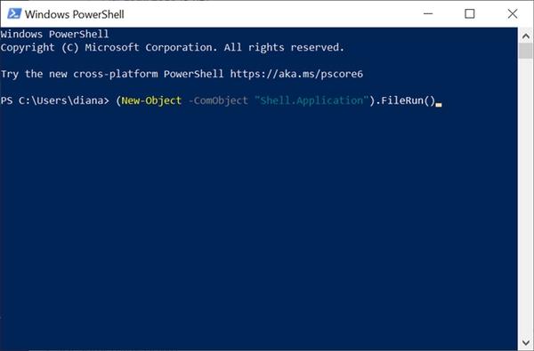 Run ویندوز کجاست؟ اجرای ران در ویندوز 10 و.. با استفاده از PowerShell
