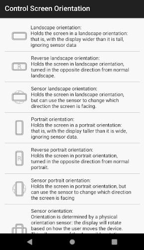 صفحه Android را بطور خودکار بچرخانید