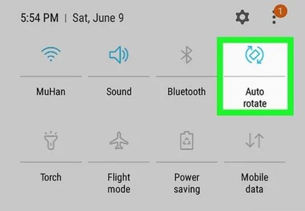 صفحه Android را بچرخانید