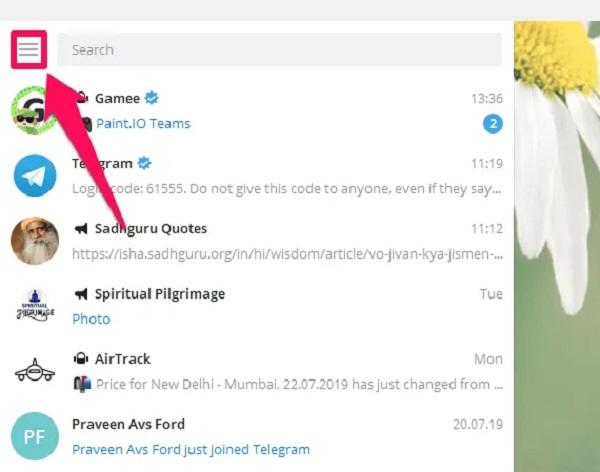 شماره را در دسکتاپ تلگرام تغییر دهید