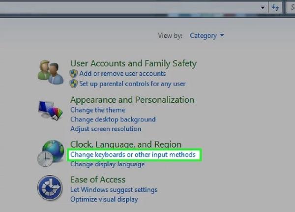 صفحه کلید ویندوز 10 را تغییر دهید