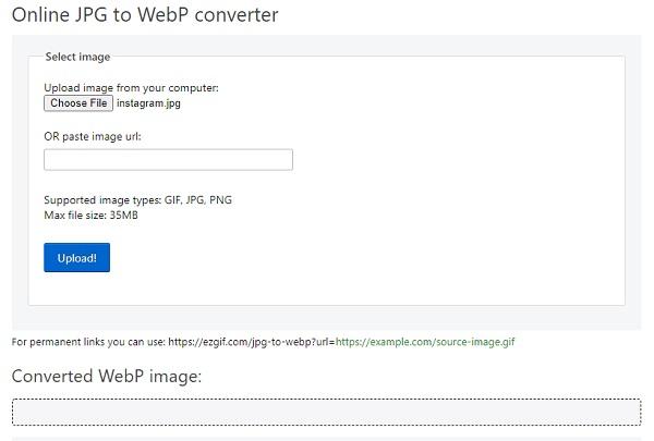 نحوه تبدیل فرمت jpg به وب