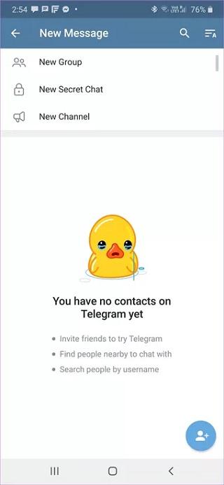 جلوگیری از نمایش پیام Joined Telegram