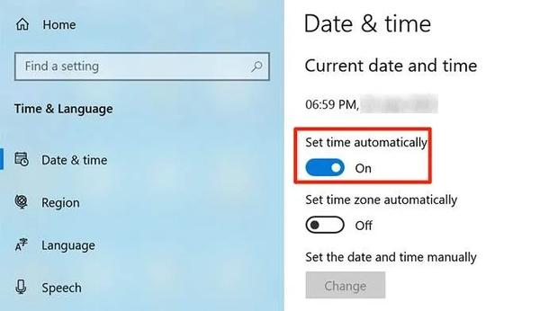 ساعت و تاریخ را تنظیم کنید