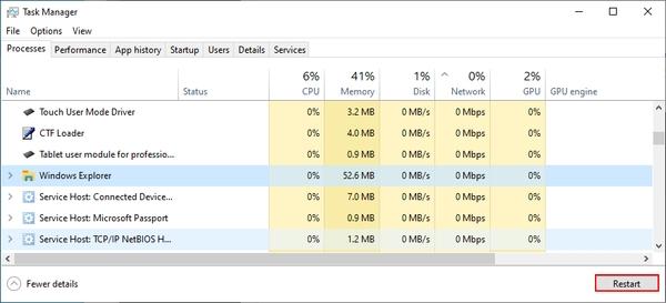 explorer.exe را مجدداً راه اندازی کنید تا خطای Windows Explorer متوقف شود