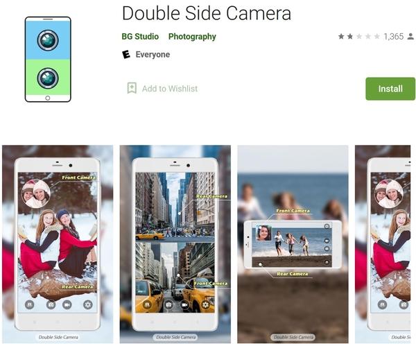 برنامه دوربین دو طرفه برای استفاده همزمان از دو دوربین تلفن