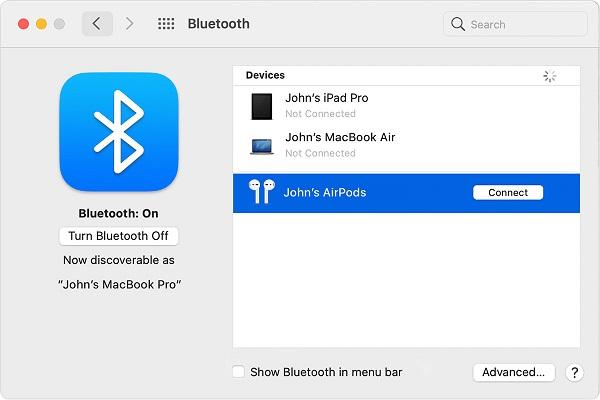 اتصال ایرپاد به لپ تاپ