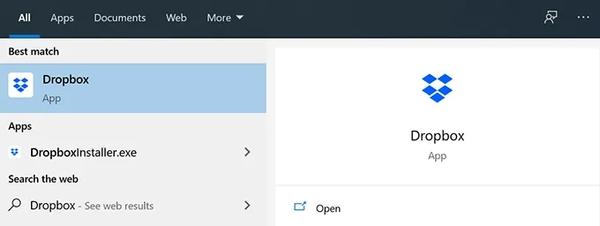 با بستن و بازگشایی Dropbox مشکل Dropbox را حل کنید