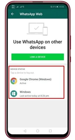 نحوه خروج از دسک تاپ و شبکه WhatsApp