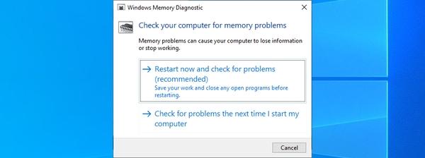 RAM را بررسی کنید