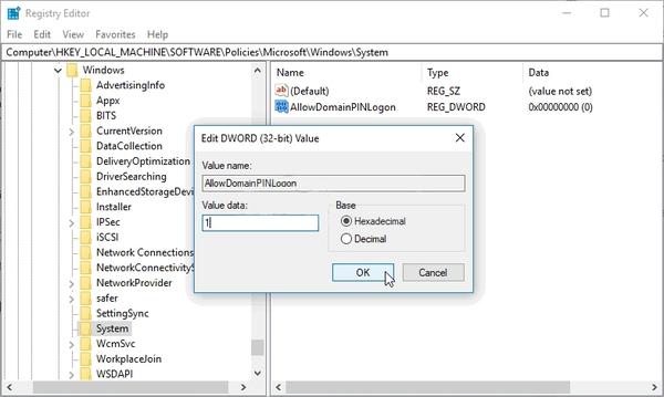 برای حل مشکل حسگر اثر انگشت ویندوز ، با ویرایش رجیستری به سیستم PIN وارد شوید