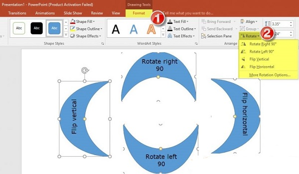 دو شکل را در پاورپوینت ترکیب کرده و قرار دهید