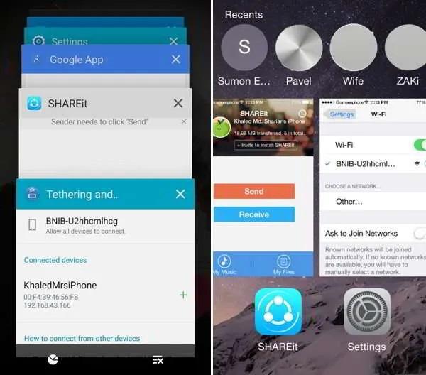 با نحوه انتقال فایل ها از Android به iPhone با SHAREit آشنا شوید