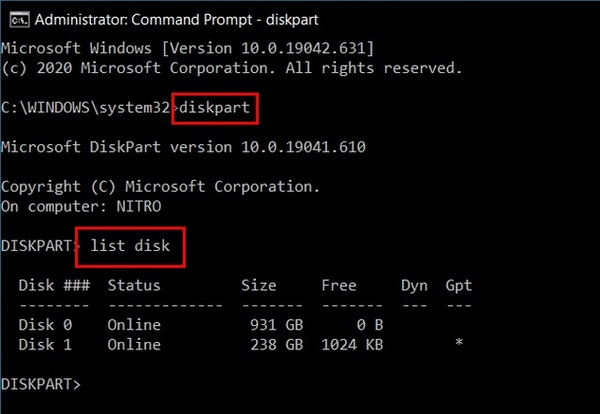 MBR را با ویندوز به GPT تبدیل کنید