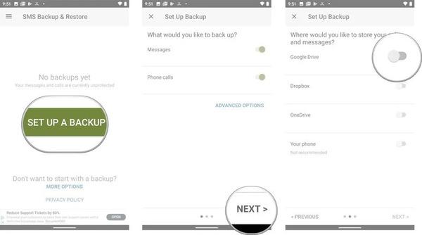 5 روش و برنامه را برای بایگانی از Android SMS بیاموزید