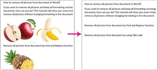عکسهای منفرد یا همه را در یک فایل Word حذف کنید