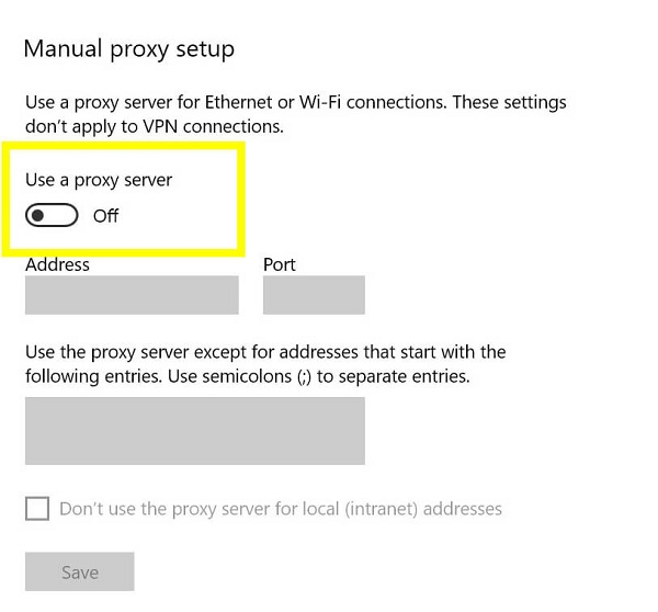 رفع مشکل پیغام خطای PR_END_OF_FILE_ERROR فایرفاکس با غیرفعال کردن Proxy