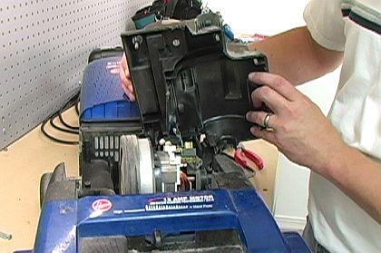 آموزش تصویری حل مشکل و تعمیر جمع کننده سیم جارو برقی