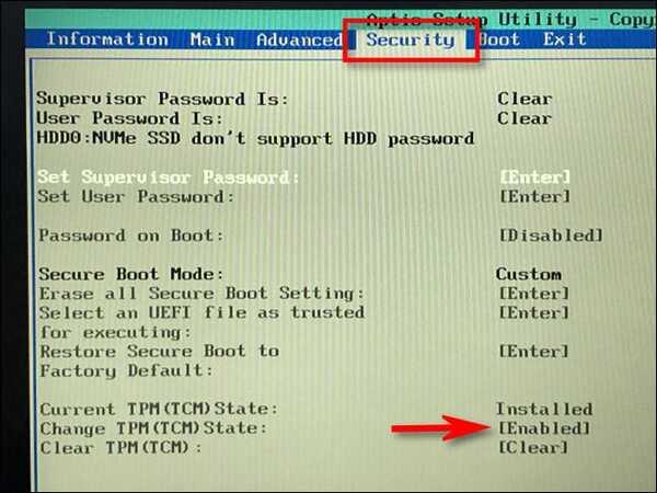 ارور This PC Can't Run Windows 11
