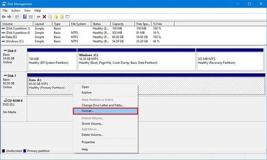 آموزش کامل استفاده از ابزار Disk Management در ویندوز 10 ، 8 و 7