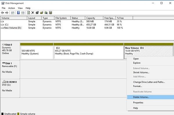 Disk Management در ویندوز