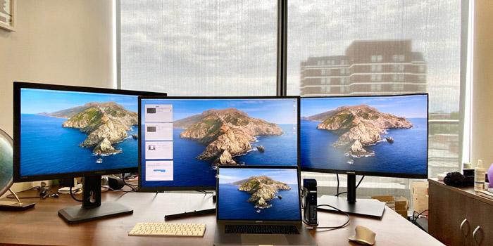 آموزش 4 روش اتصال یک یا چند مانیتور به یک لپ تاپ