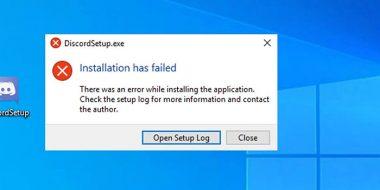 آموزش 5 روش رفع ارور Installation has failed دیسکورد