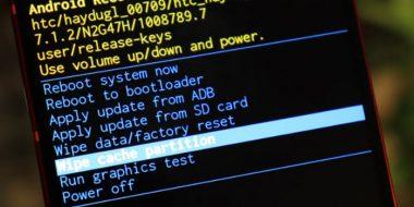 آموزش Wipe cache partition گوشی اندروید